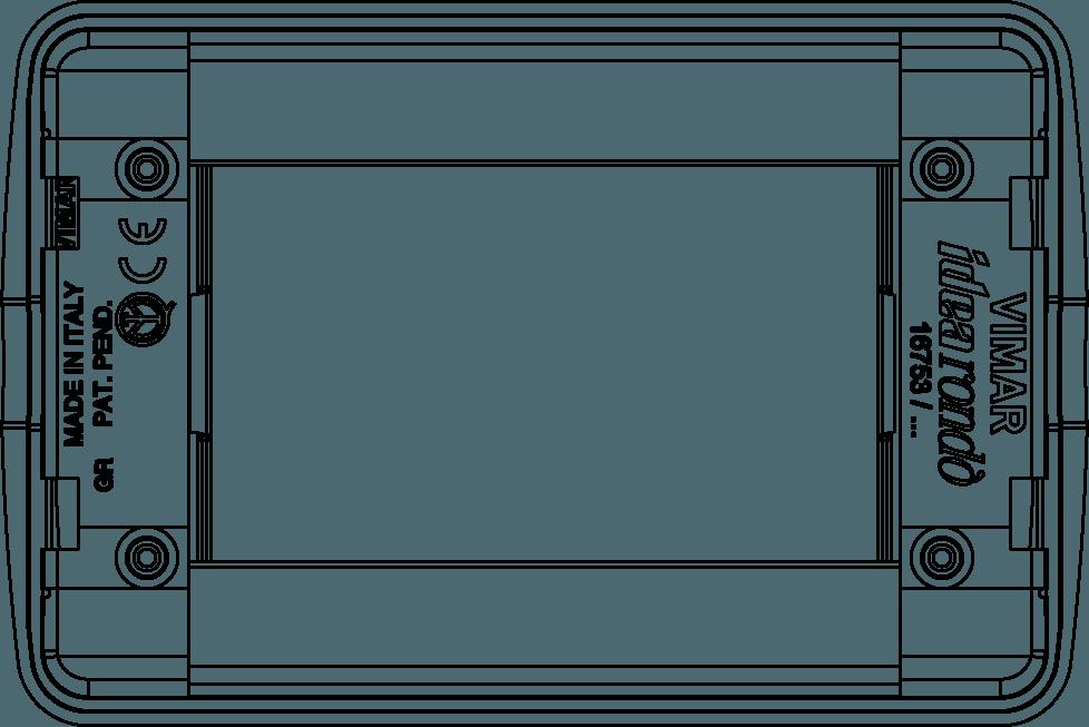 Placa rondo 3 m/ódulo metal oro brillante Vimar serie idea