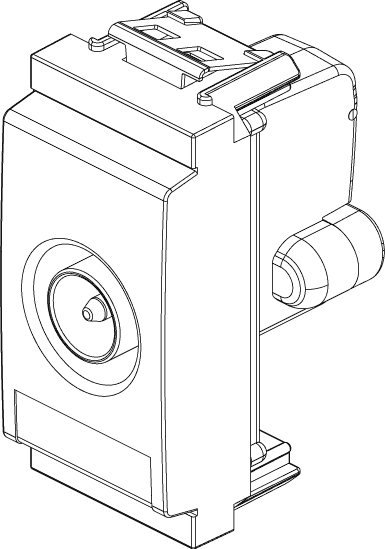 VIMAR 17066.10 IDEA PRESA TV-RD-SAT PASSANTE 10DB MASCHIO G