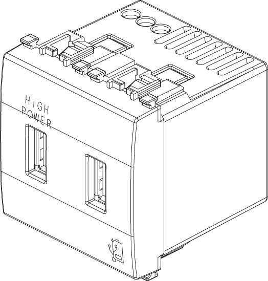 VIMAR EIKON 20295.N Unità alimentazione USB 5V 2,1A 2M Next