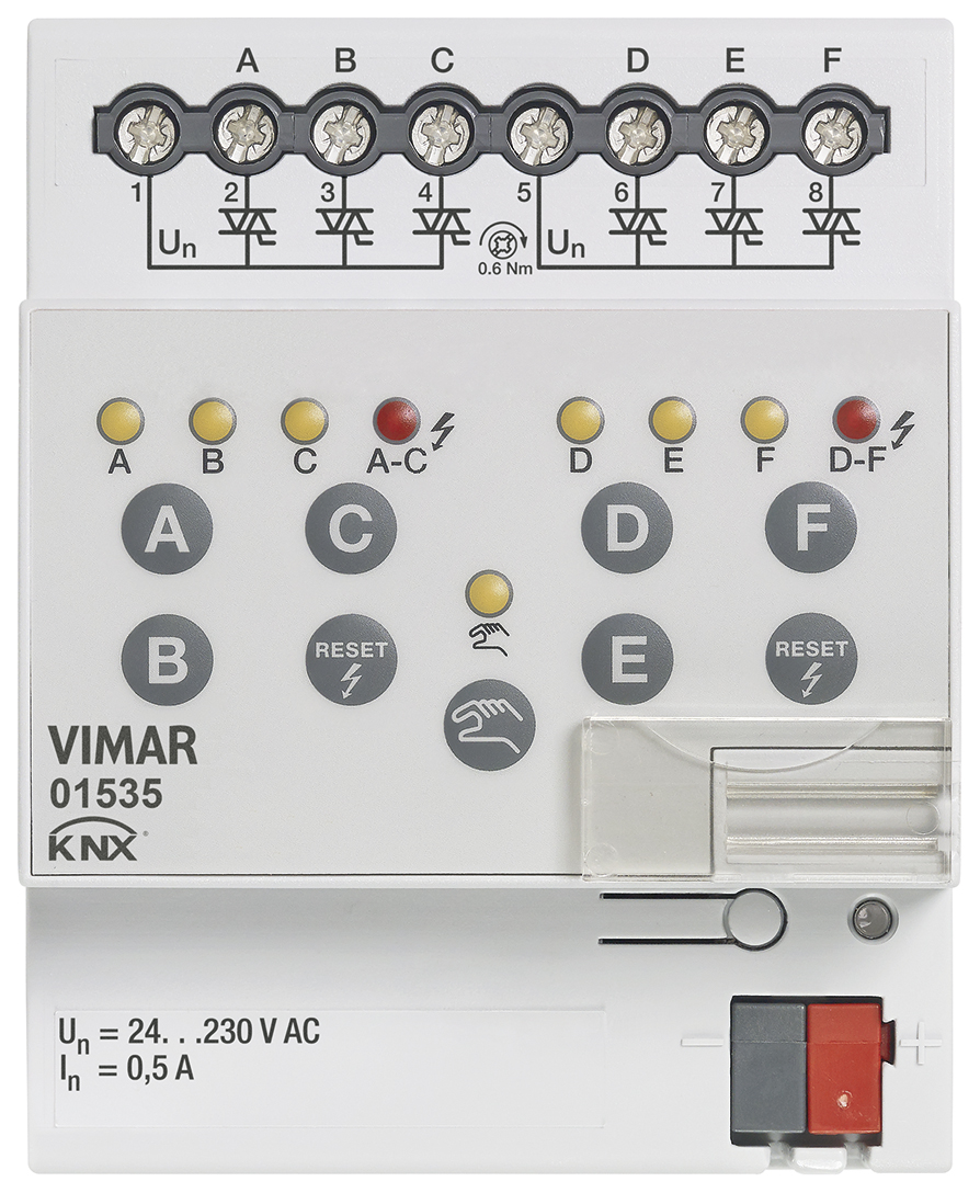 Knx Solenoid Valve Actuator 6 Out 230v 01535 Surface Lighting Wiring Diagram 3d