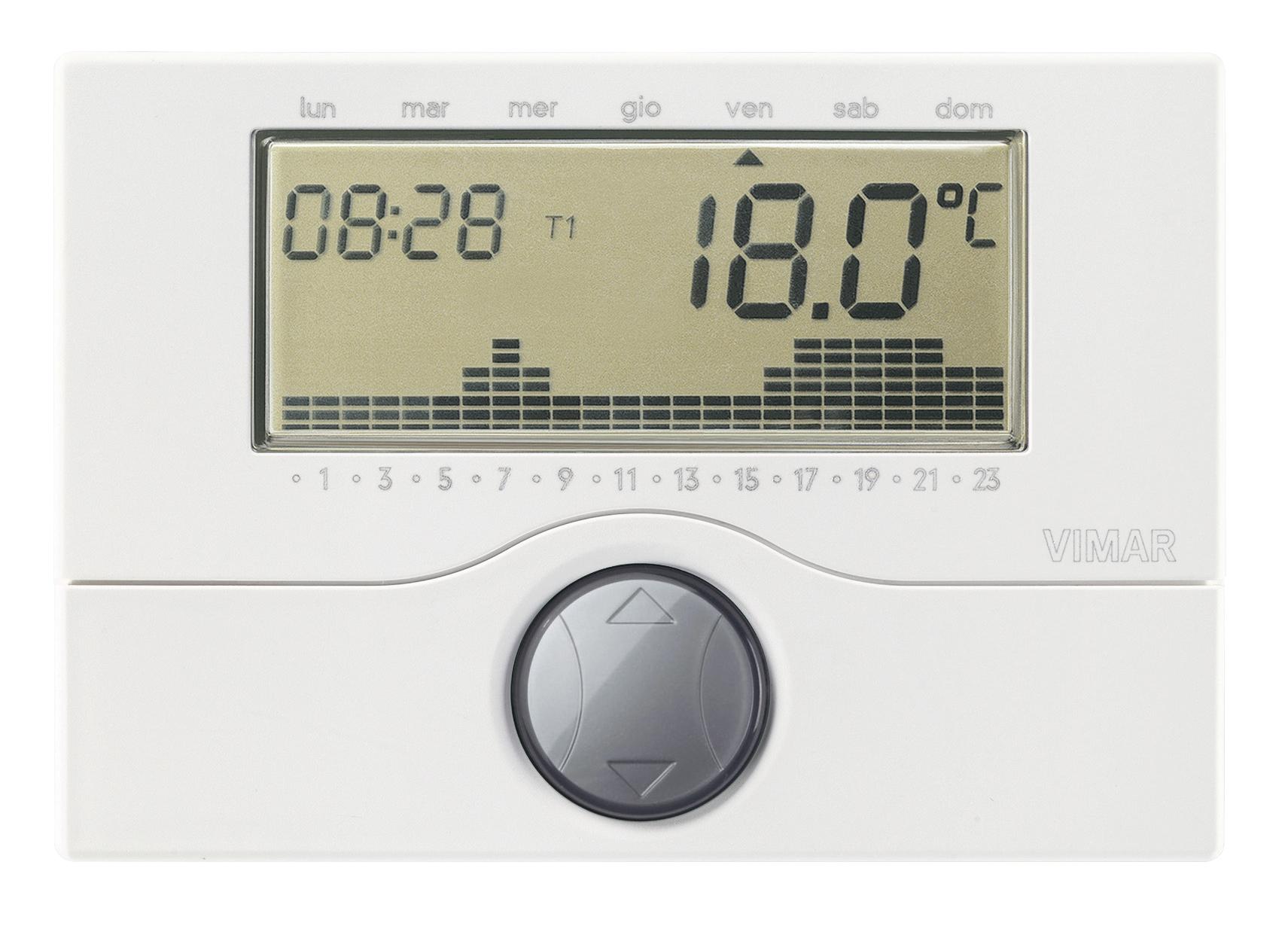 Comfort clima avanzato cronotermostato a batt parete for Tecnoswitch cronotermostato istruzioni