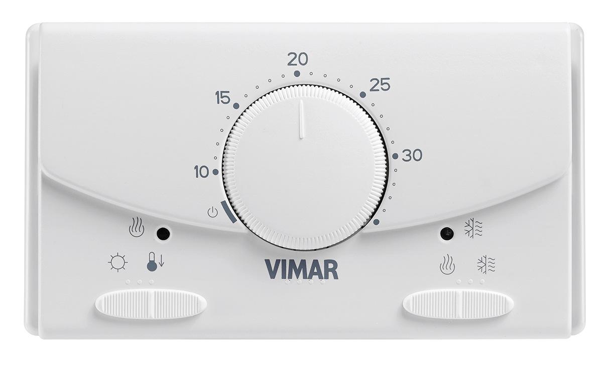 Comfort clima base termostato rotella parete batt bianco for Termostato touchscreen gsm vimar 02906