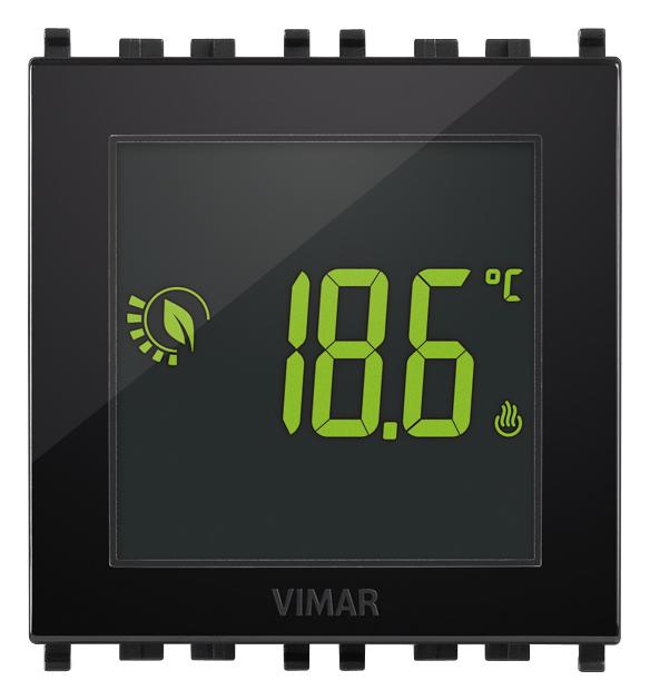 Comfort clima avanzato termostato touch 2m 120 230v nero for Vimar 01910