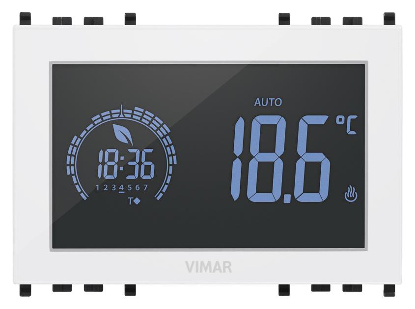 Comfort clima avanzato cronotermostato a batt parete for Programmazione cronotermostato vimar 01910