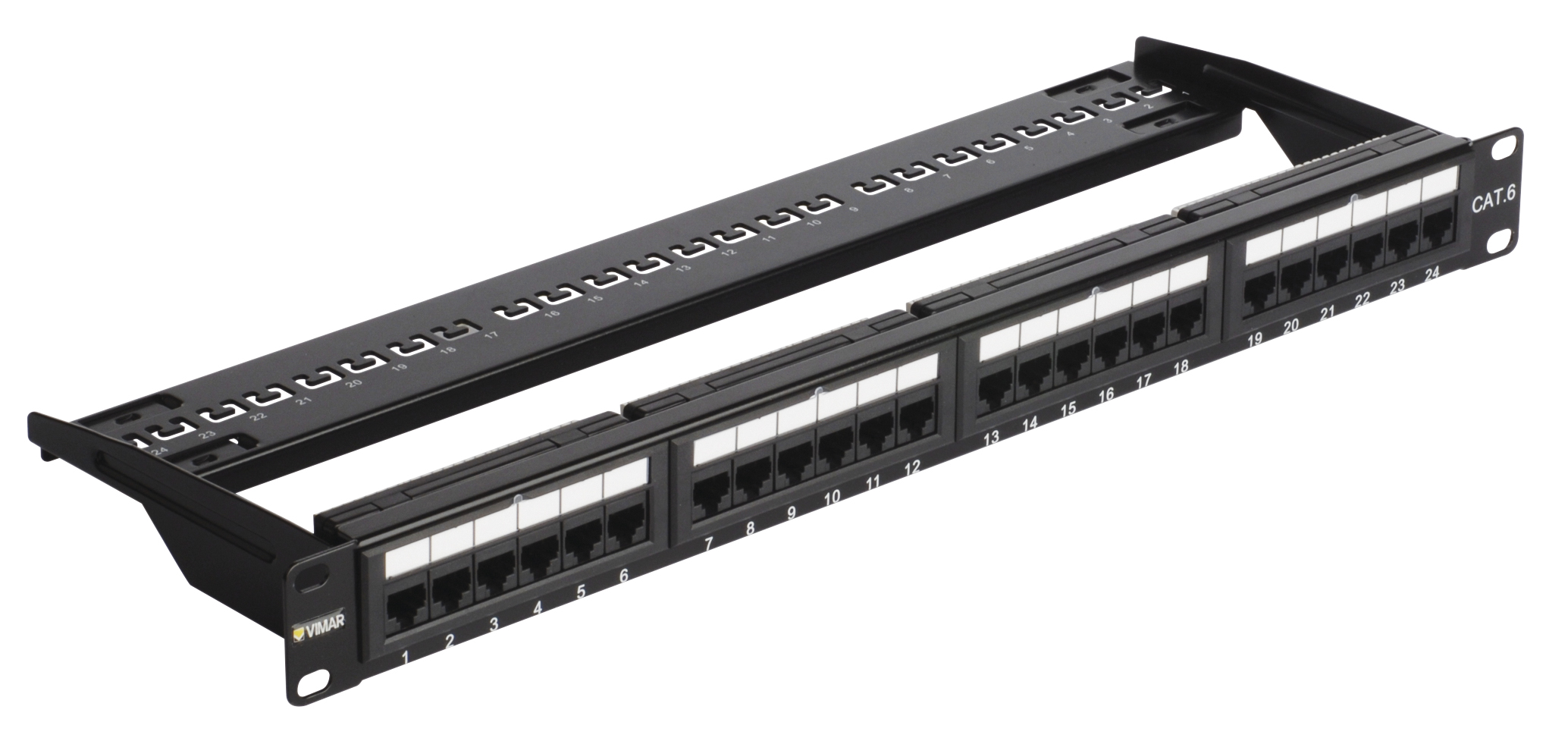 Patch panels: Patch panel - 24 RJ45 Cat6 UTP conn.1u - 03024.6 - Net ...