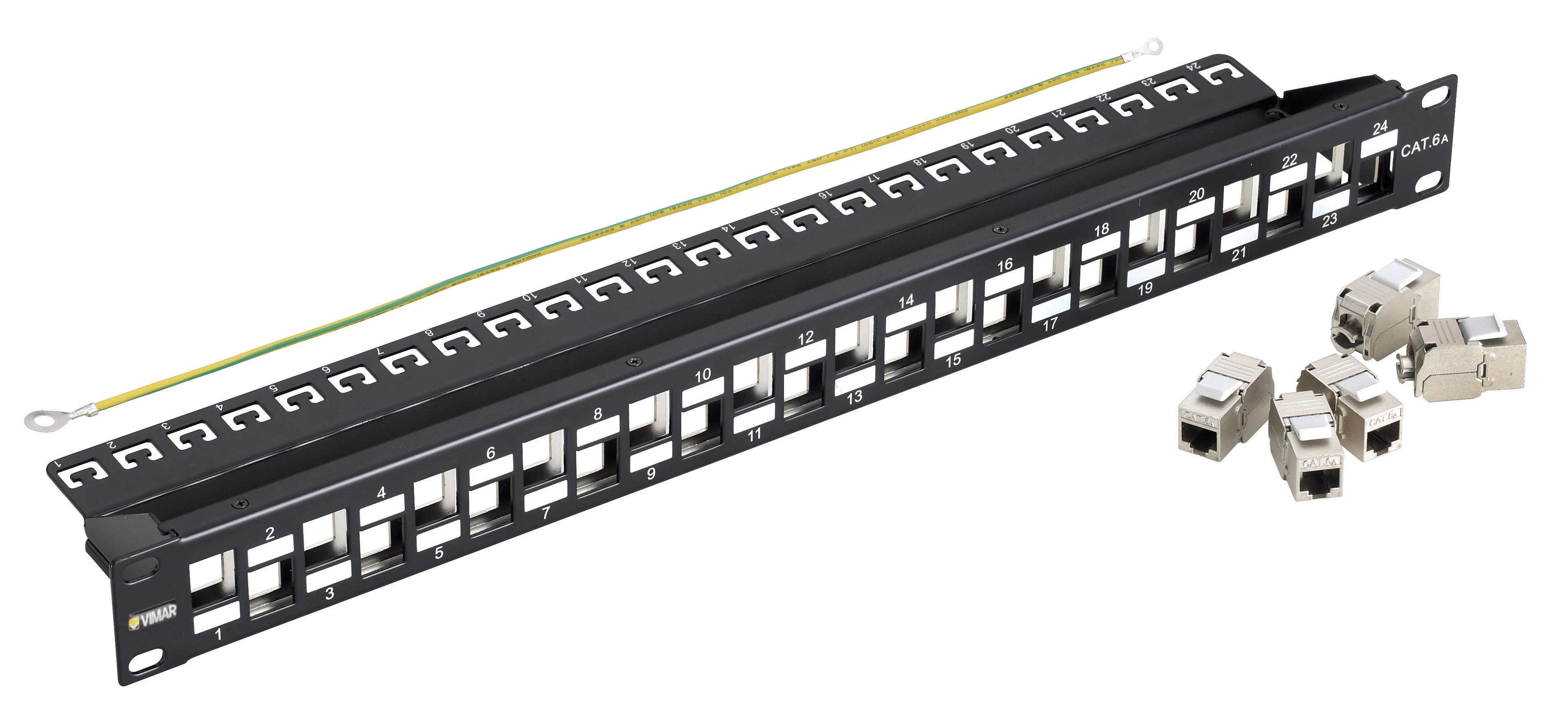 Patch panels: Patch panel - 24 RJ45 Cat6A FTP conn.1u - 03024.9 ...