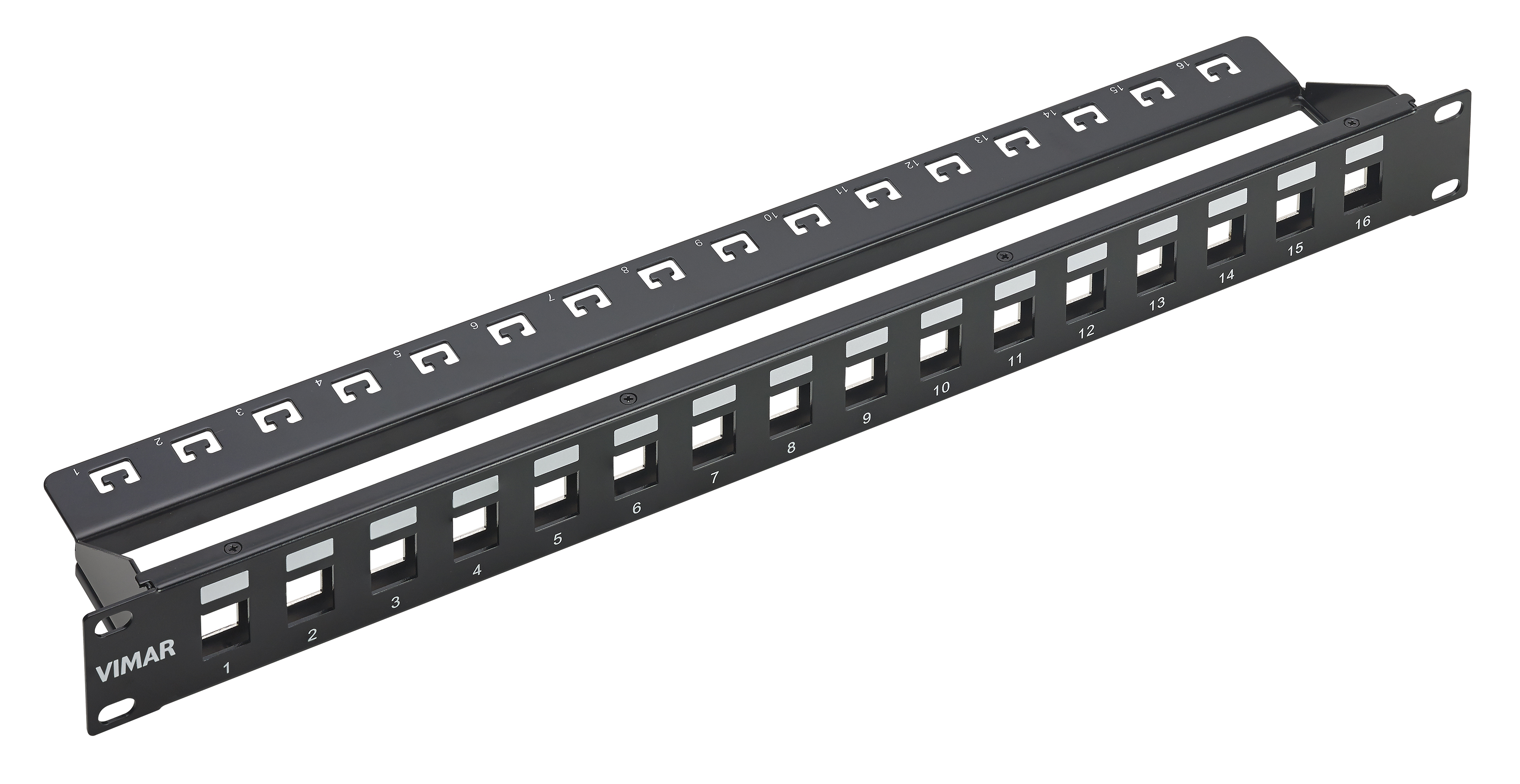 Patch Panels Panel 16 Empty Ports 1u 03024e Net Safe For Of Rack System On Wiring House Ethernet E 3d