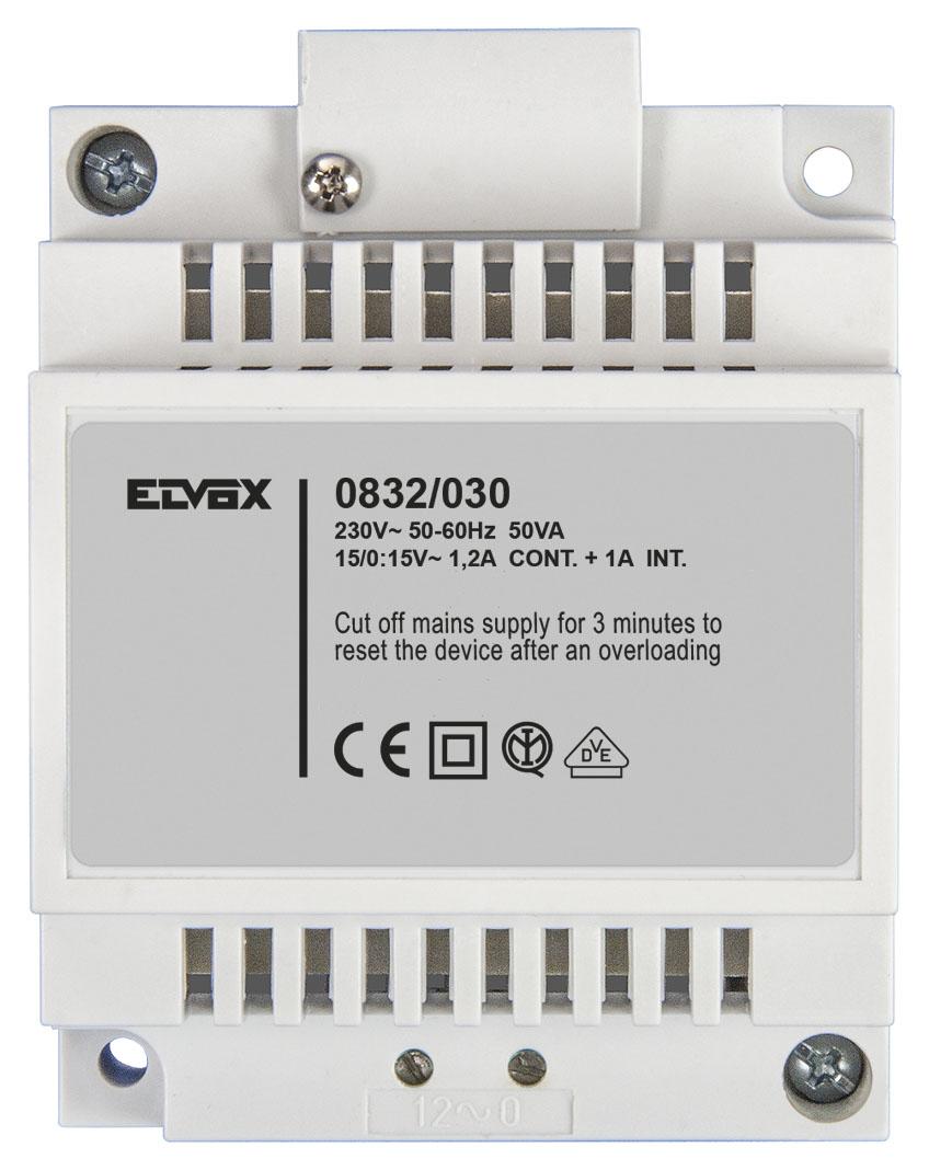 System Components Safety Transformer 15v 50va 0832 030 Elvox