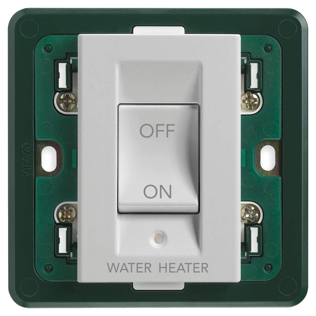 Basic devices: 2P 32A 1-way switch WATER/HEATER Silver - 14017.WH.SL ...