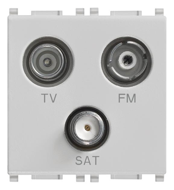 Prises tv rd sat 3 sorties prise tv fm sat directe 3sorties silver 14303 sl plana silver - Prise tv sat ...