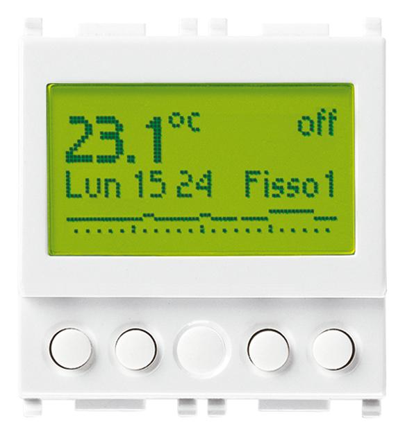 Comfort clima avanzato cronotermostato 120 230v bianco for Cronotermostato vimar 01910 manuale istruzioni