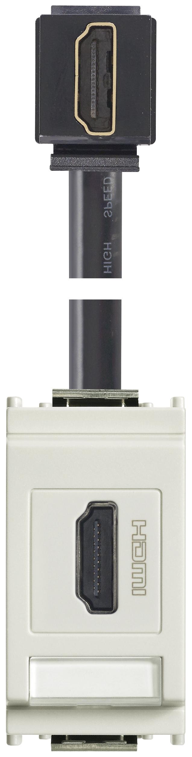 signalanschlußdosen: steckdose hdmi 90°-kabel weiß - 16334.h.b