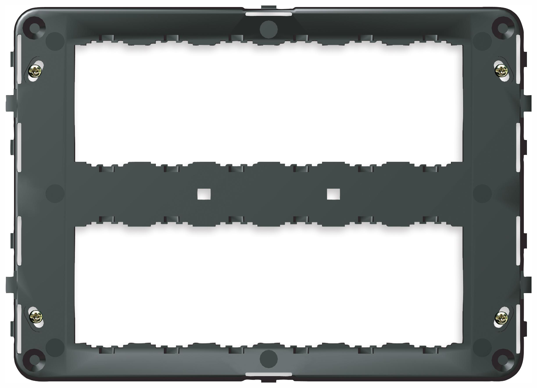 Für rechteckige Dosen: Rahmen 12M +Schrauben - 16718 - Idea ...