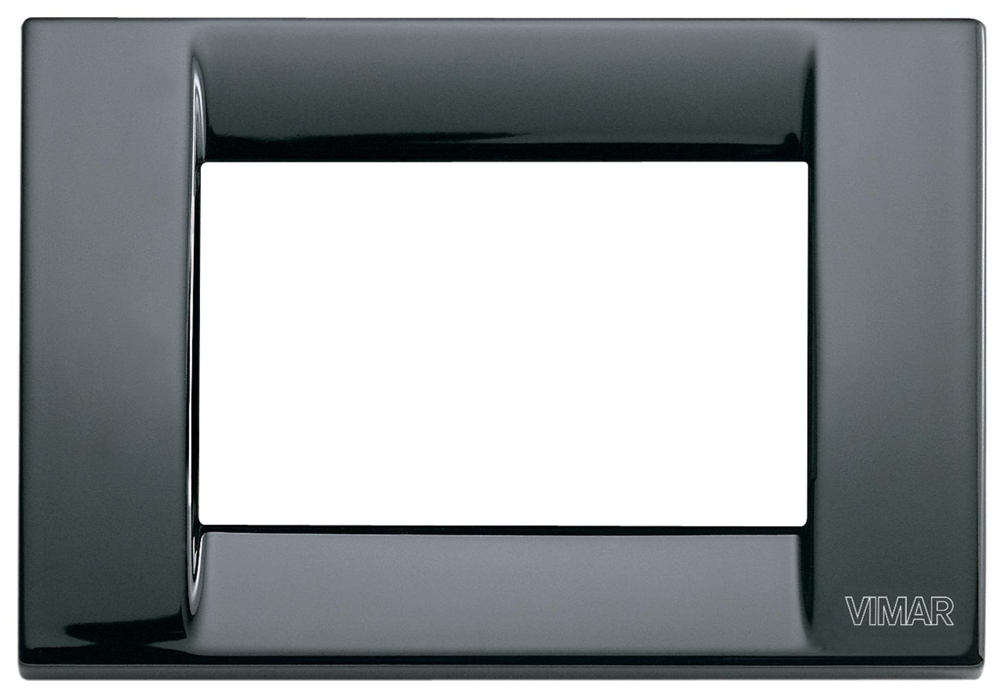 Vimar serie idea Placa classica 3 m/ódulo plastico negro
