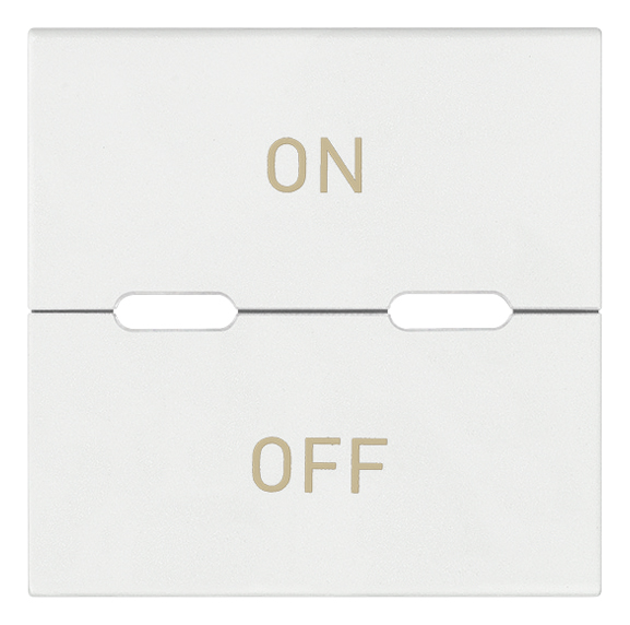 Domotics - devices: Button 2M ON/OFF symbols white - 19532.20.B ...