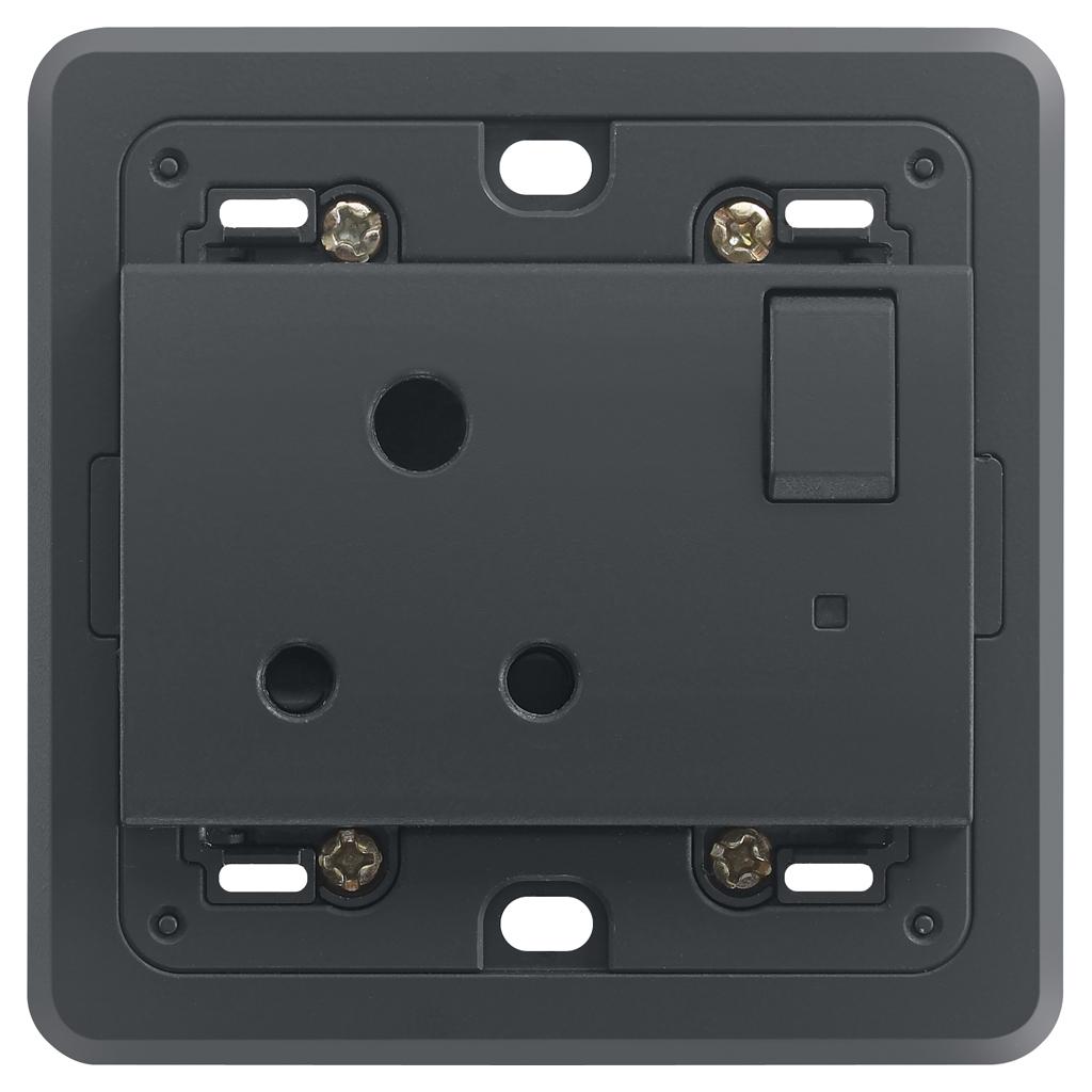 Gesteuerte Steckdosen: Steckdose 2P+E 5A englisch geschaltet gr ...