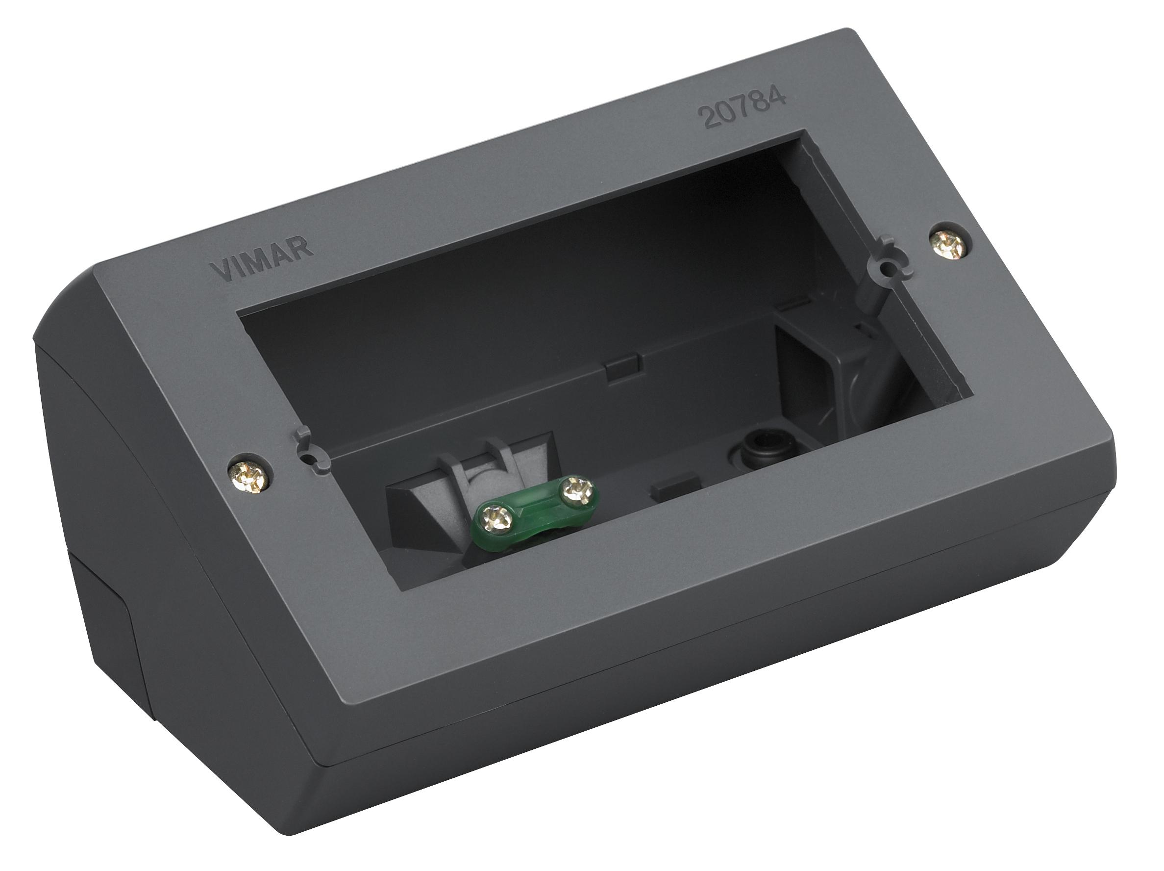 Da tavolo scatola da tavolo 4m grigio 20784 eikon catalogo prodotti vimar energia positiva - Impianto elettrico esterno canaline ...