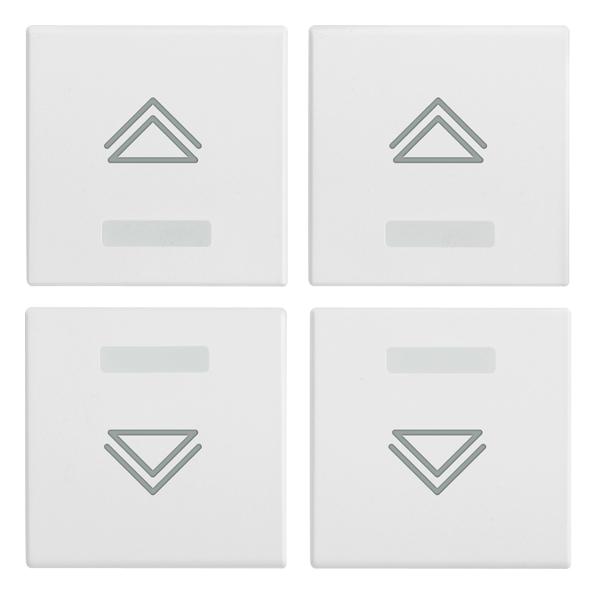 Knx Four Half Buttons 1m Regulmbol White 208414b Eikon