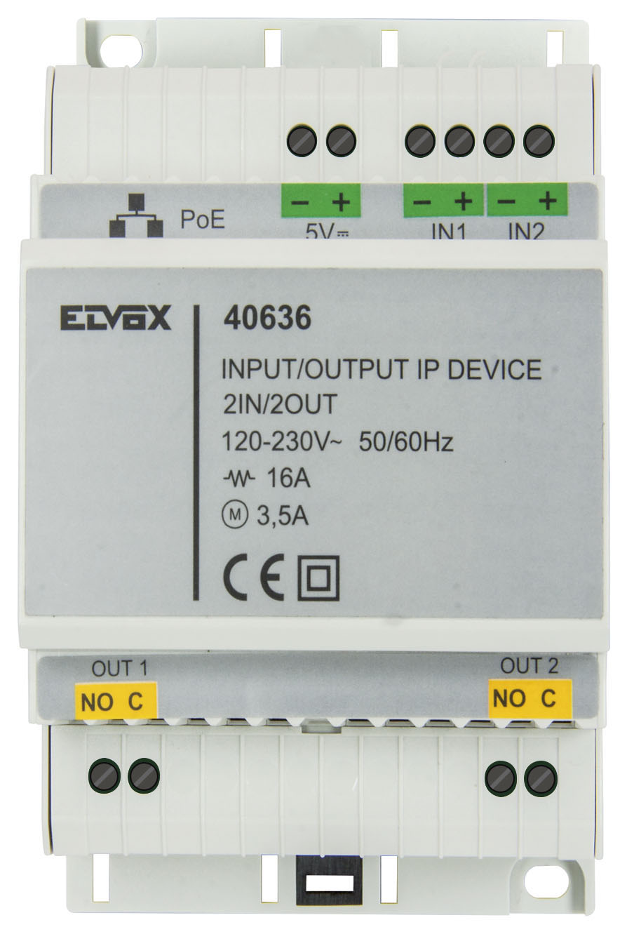 Consumer Unit 2 Relay Input Output Ip Device 40636 Elvox Door Electric 3d