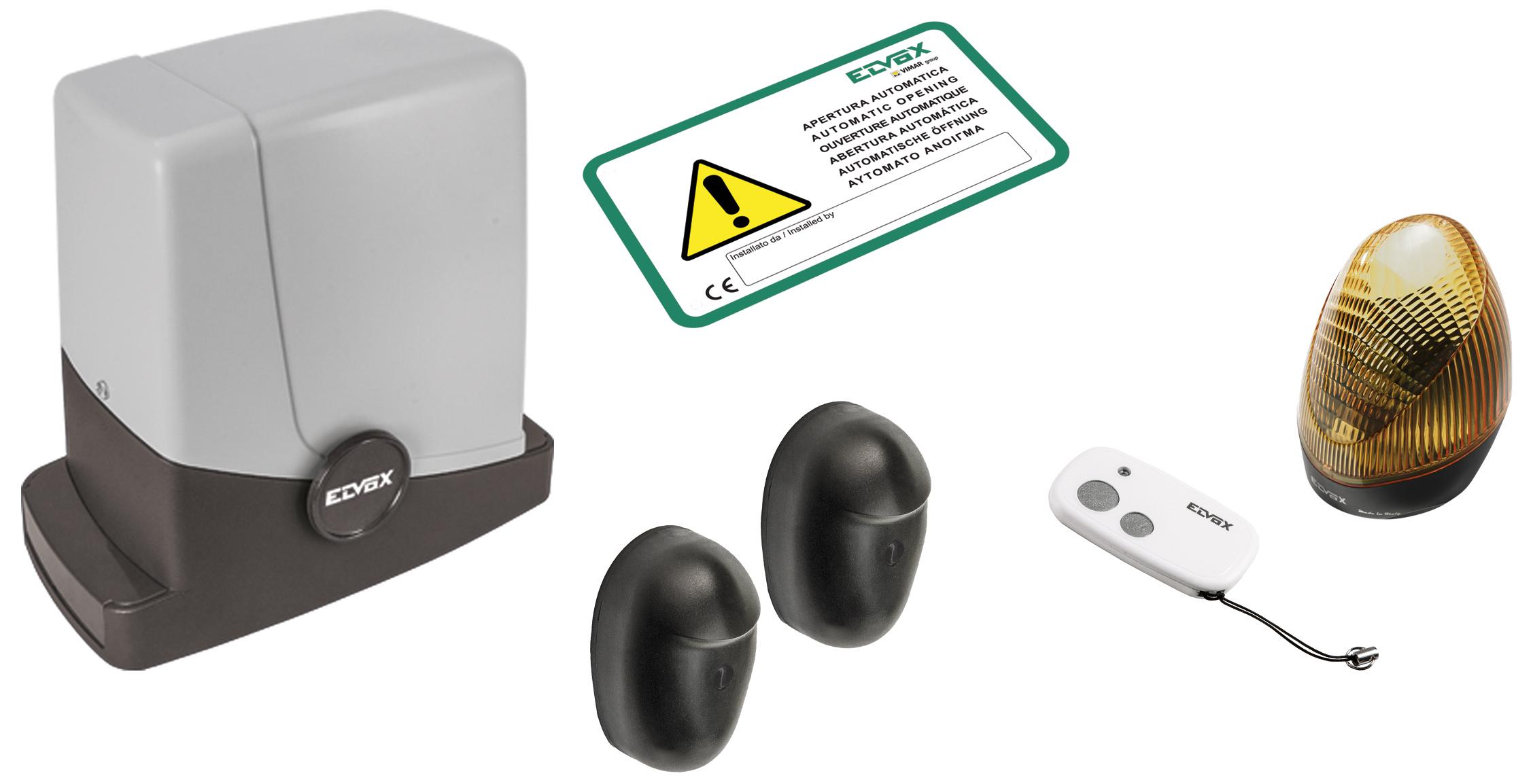 Scorrevoli: Kit ACTO 404D scorrevole 24V 400kg - EK14 - Catalogo Prodotti - Vimar energia positiva