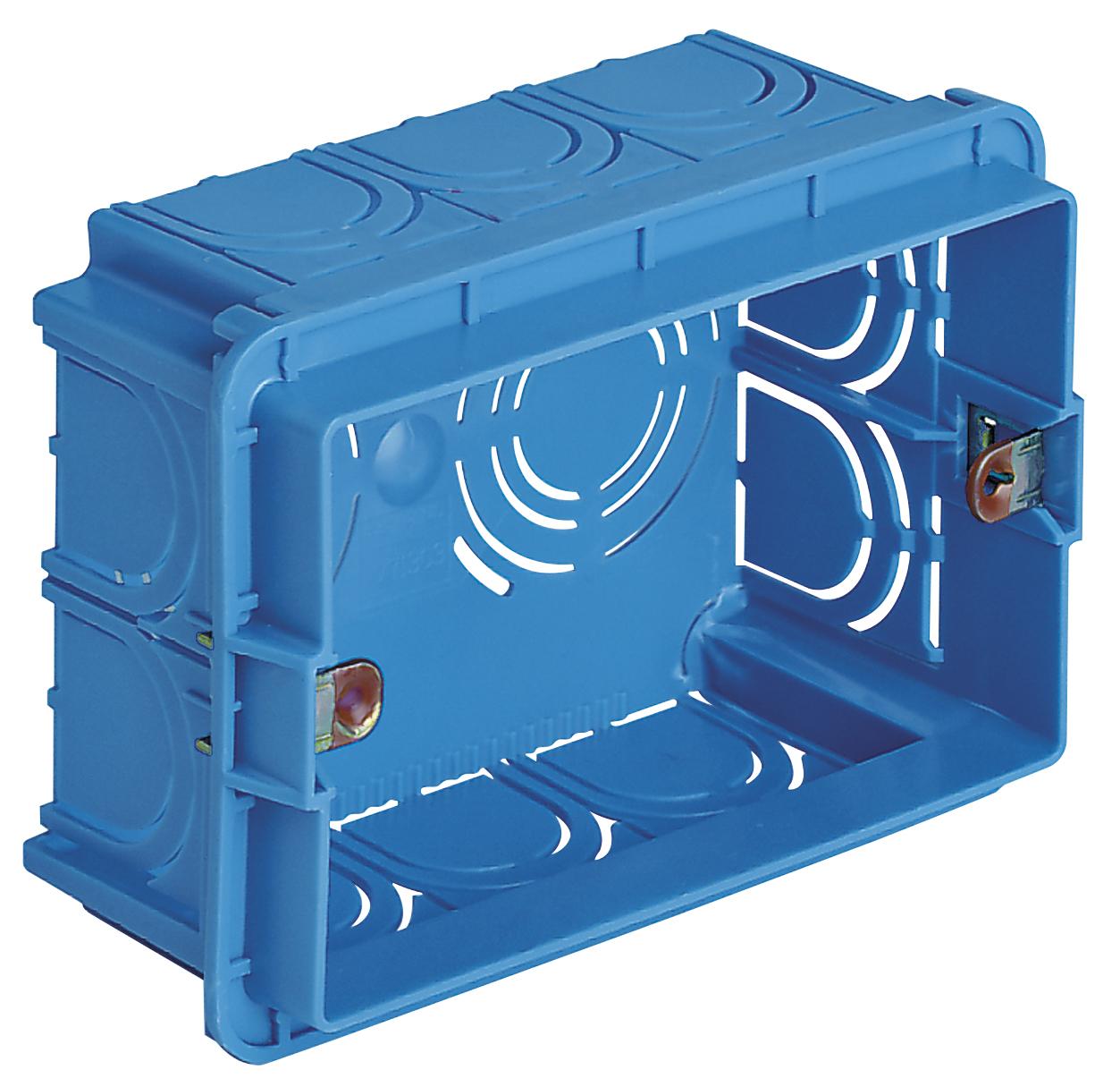 Catalogo Prodotti - Per pareti in muratura: Scatola incasso rettang. 3M azzurro - V71303 - Contenitori e scatole - Vimar energia positiva