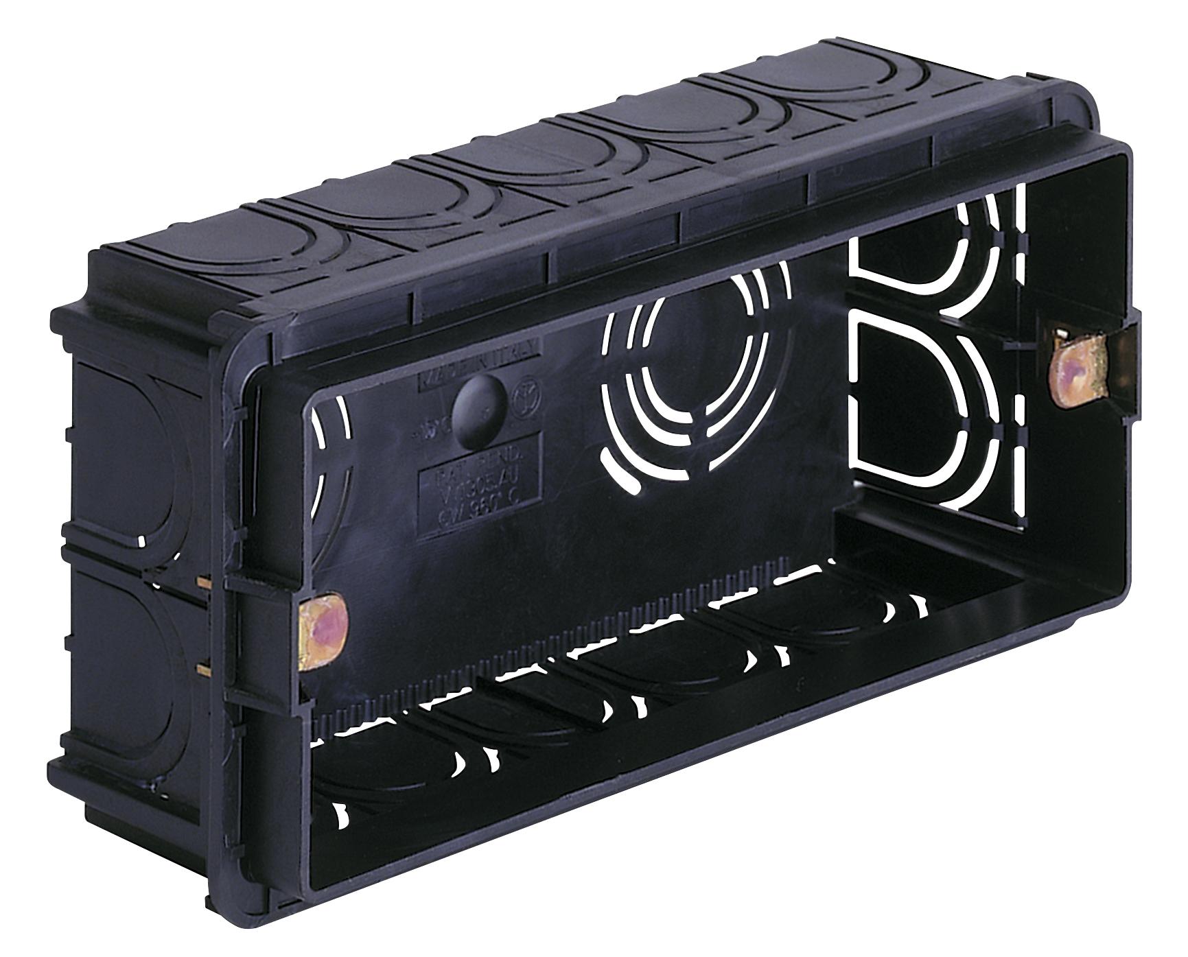 per pareti in muratura: scatola incasso rettang.autoest. 5m nero